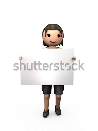 ストックフォト: 3D · 小さな · 男性 · 名刺