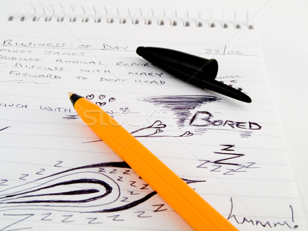 Doodle Sketch Lined Work Business Notepad Stock photo © bobbigmac