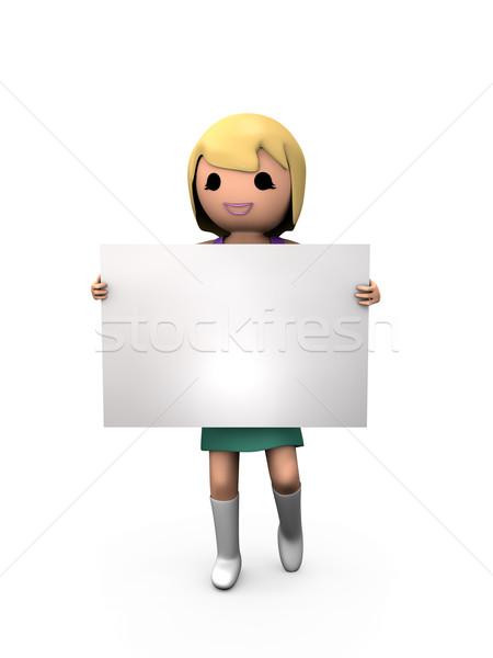 3D блондинка девушки женщины Сток-фото © bobbigmac