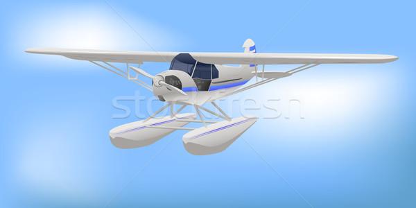 Pequeño blanco luz aeronaves comerciales vuelo Foto stock © bobbigmac