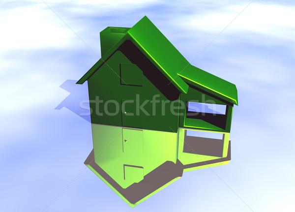 Vert environnement maison modèle réflexion Photo stock © bobbigmac