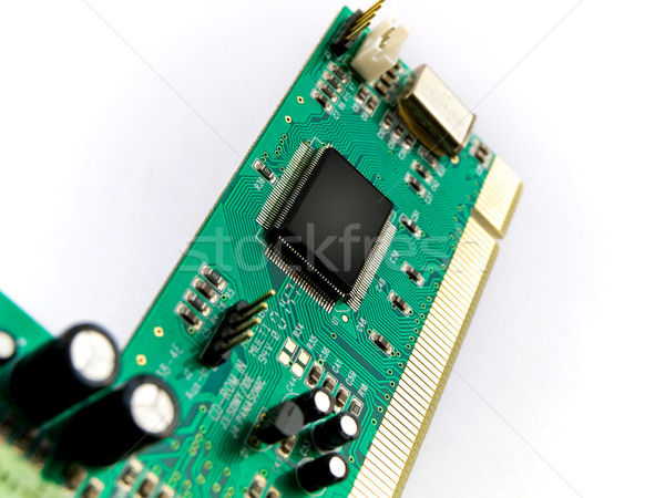 Green Circuit Board PCI on White Stock photo © bobbigmac
