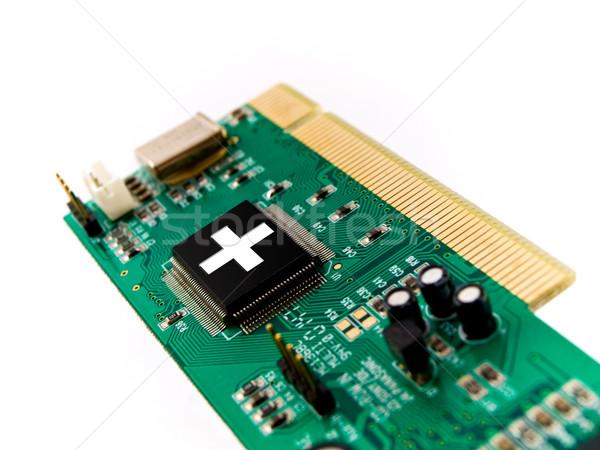 Pc ayudar circuito blanco Internet diseno Foto stock © bobbigmac