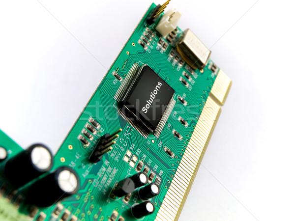 Soluciones circuito blanco diseno red verde Foto stock © bobbigmac
