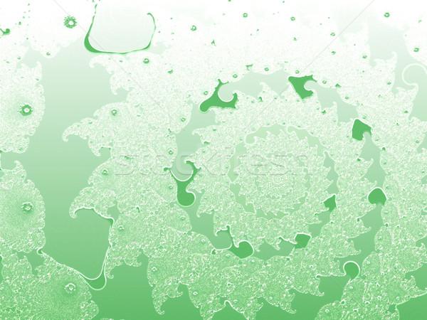 Verde claro superficial fractal diseno patrón cielo Foto stock © bobbigmac