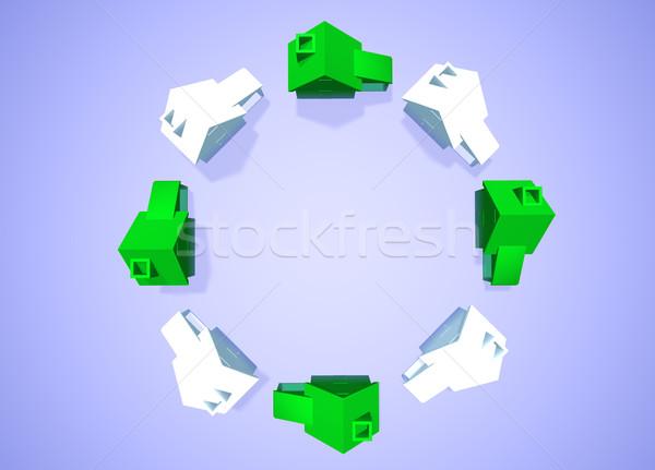 Environnement accueillant maisons quartier groupe anneau Photo stock © bobbigmac