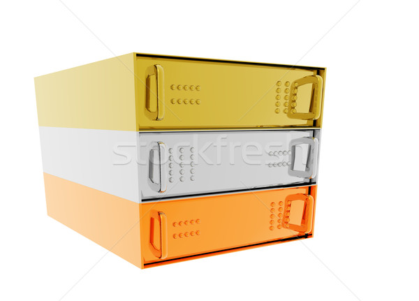 Gold Silver Bronze Server Rack Hosting Stock photo © bobbigmac