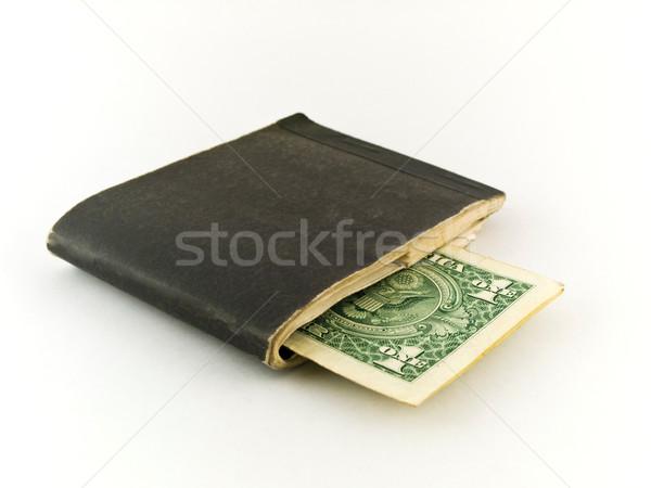 старые один доллара законопроект белый бумаги Сток-фото © bobbigmac