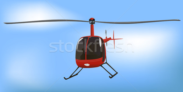 Small News or Traffic Helicopter Stock photo © bobbigmac