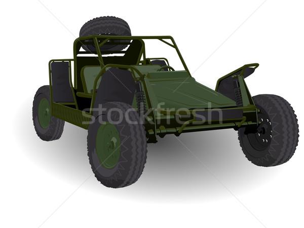 Ejército duna vehículo blanco deporte luz Foto stock © bobbigmac