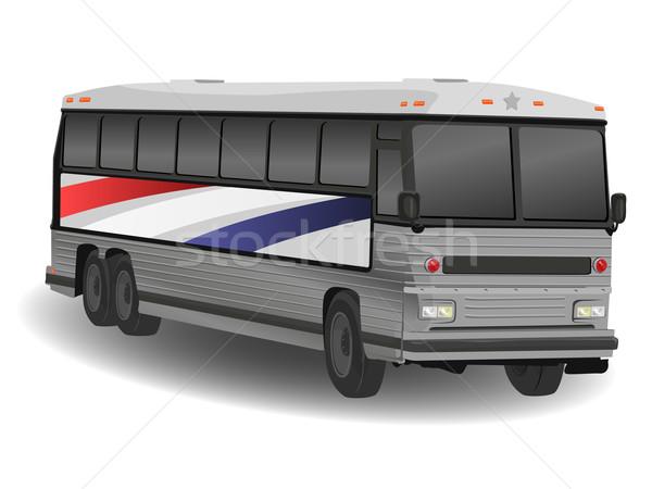 Aluminio americano galgo autobús ilustración blanco Foto stock © bobbigmac