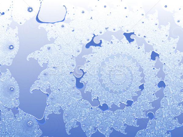 Blauw spiraal fractal swirl textuur hemel Stockfoto © bobbigmac