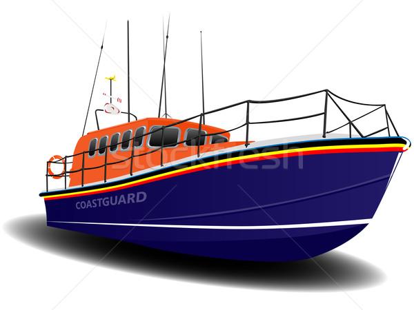 оранжевый синий иллюстрация белый воды морем Сток-фото © bobbigmac