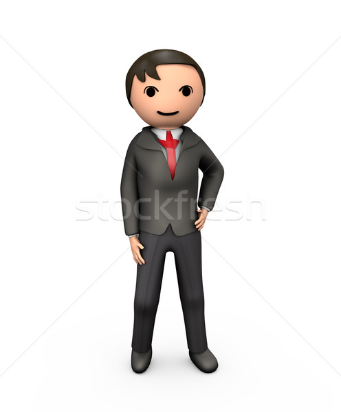 3D Young Business Man in Suit Stock photo © bobbigmac