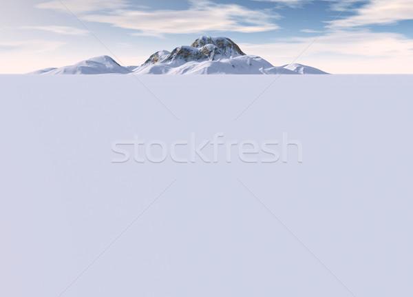 Paysage montagne loin distance horizon fond Photo stock © bobbigmac