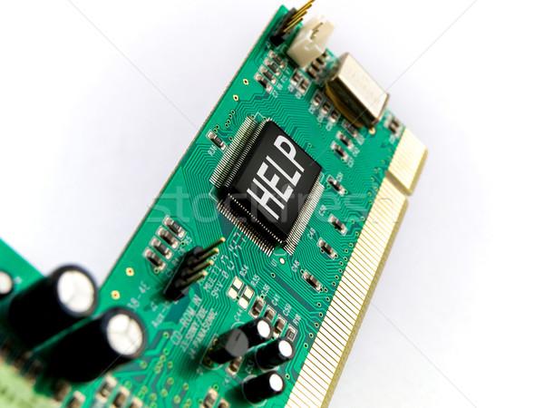 PC Help Circuit Board PCI on White Stock photo © bobbigmac