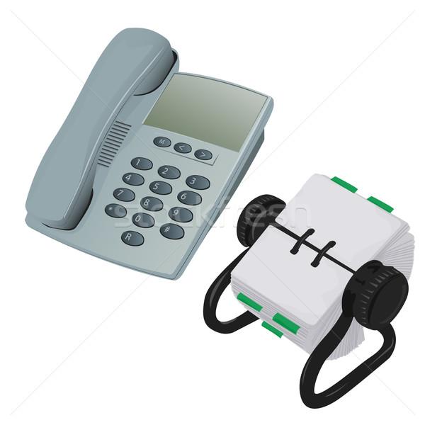 современных столе телефон бизнеса телефон пространстве Сток-фото © bobbigmac