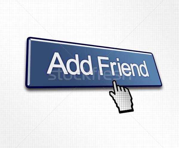 Clicked Add Friend Button Stock photo © bobbigmac