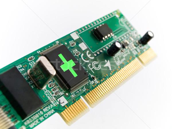 Pc ayudar circuito blanco tecnología red Foto stock © bobbigmac