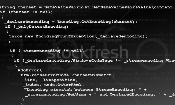 Programozás kód forrás textúra illusztráció terv Stock fotó © bobbigmac