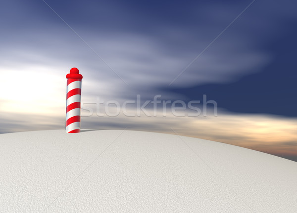 North Pole with Spiral Pattern on Ice Stock photo © bobbigmac
