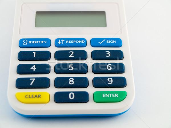 Banco seguridad pin código seguridad dispositivo Foto stock © bobbigmac