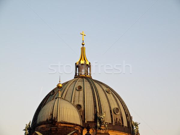 купол крыши Церкви Берлин Skyline золото Сток-фото © bobbigmac