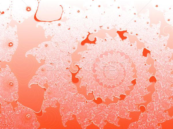 Rouge fractal design texture modèle wallpaper Photo stock © bobbigmac