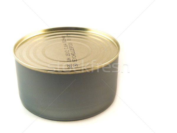 Small Tuna Tin Can on White Stock photo © bobbigmac