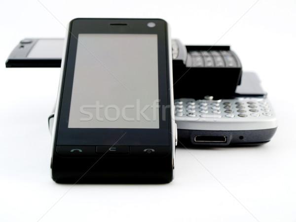 Uno móviles teléfono celular Screen aplicaciones aplicación Foto stock © bobbigmac