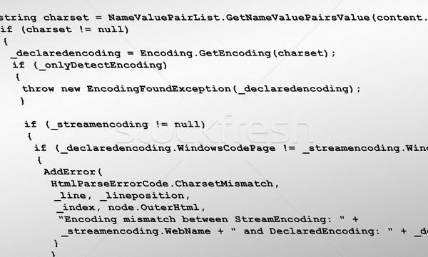 программированию Код источник текстуры иллюстрация дизайна Сток-фото © bobbigmac