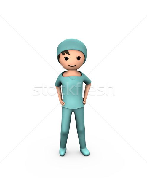 Personne 3d jeunes médecin blanche Photo stock © bobbigmac