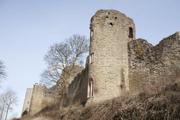 Kastély torony romok fal Stock fotó © bobhackett