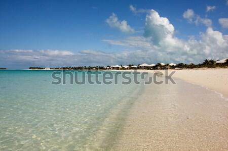 Nyár tengerpart trópusi csendes higgadt türkiz Stock fotó © bobhackett