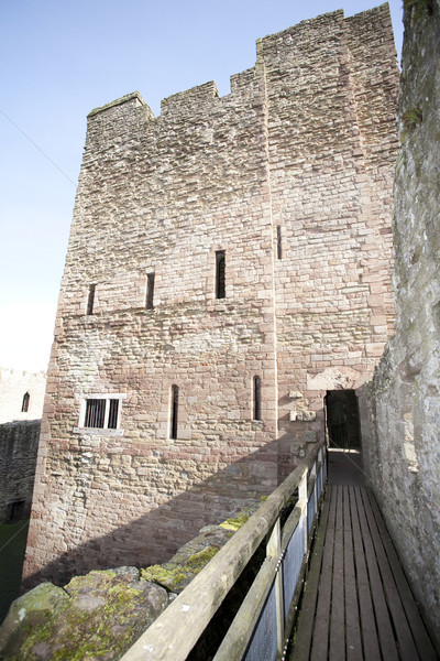 Kastély torony bejárat történelmi épület Stock fotó © bobhackett