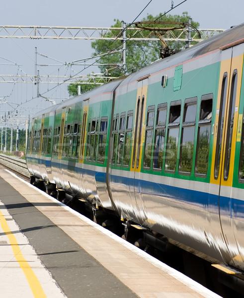 Nem leírás híd vonat szállítás vonal Stock fotó © bobhackett