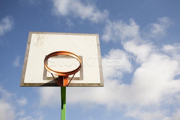 Stock fotó: Kosárlabda · kék · ég · fehér · felhők · sport