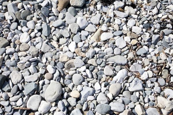 Kavicsok tengerpart háttér Stock fotó © bobhackett