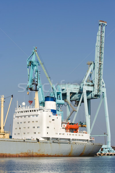 port cranes and ship Stock photo © bobhackett