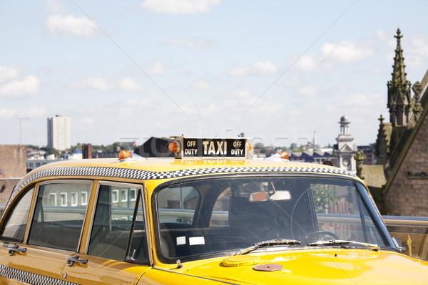 Stok fotoğraf: New · York · taksi · sarı · çatı · imzalamak