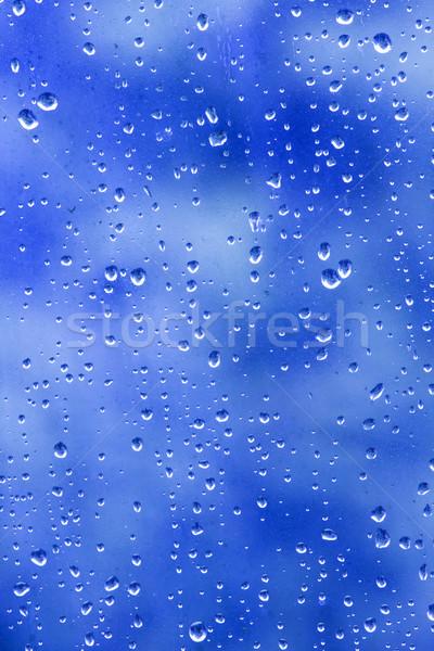Waterdruppels abstract regen venster patroon Stockfoto © bobhackett