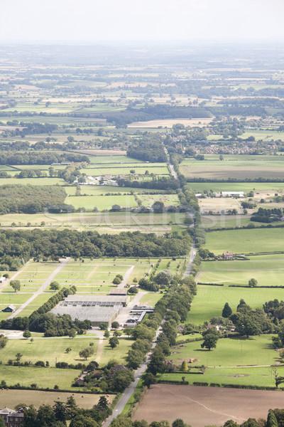 Vidéki út légifelvétel angol vidék nyár tájkép Stock fotó © bobhackett