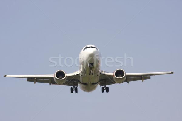 Kerekek lefelé iker gép repülőgép kék Stock fotó © bobhackett