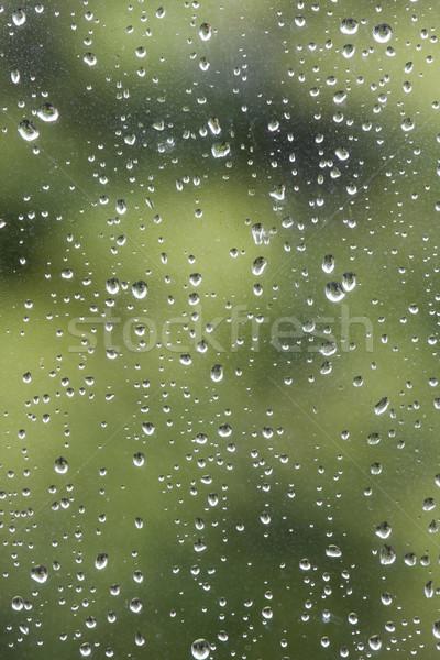 Vízcseppek eső cseppek ablak absztrakt minta Stock fotó © bobhackett