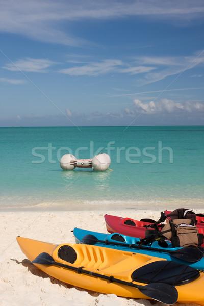 Tenger felfelé trópusi tengerpart égbolt óceán kék Stock fotó © bobhackett