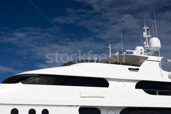 Jacht vliegen brug witte Stockfoto © bobhackett
