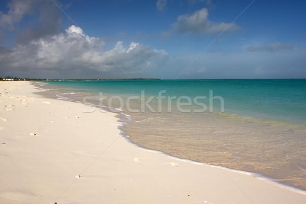 Zon zee hemel turkoois strand blauwe hemel Stockfoto © bobhackett