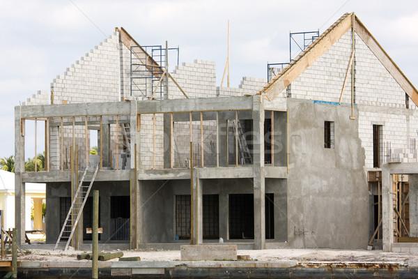 Részben ház ünnep kunyhó építkezés Bahamák Stock fotó © bobhackett