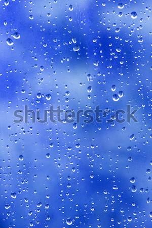 Eső cseppek absztrakt cseppek ablak minta Stock fotó © bobhackett
