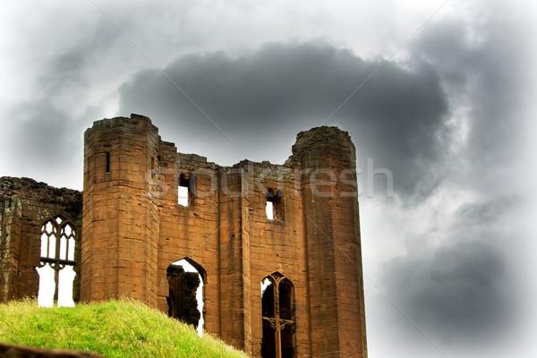 Viharos kastély romok égbolt Stock fotó © bobhackett